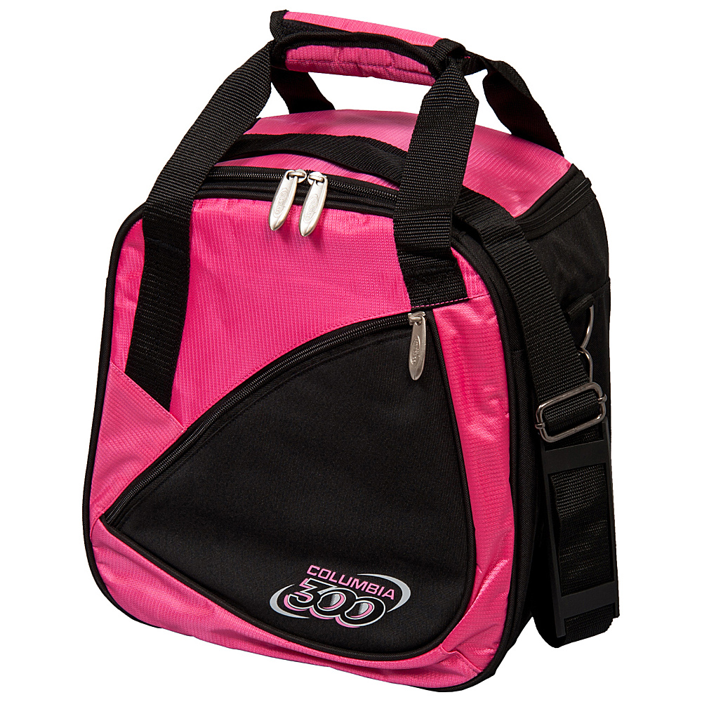 Columbia 300 Bags Team C300 Single Ball Tote Pink Black Columbia 300 Bags Bowling Bags