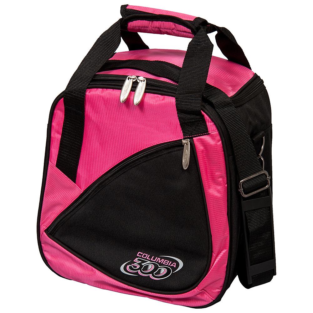 Columbia 300 Bags Team C300 Single Ball Tote Pink Black Columbia 300 Bags Bowling Bags