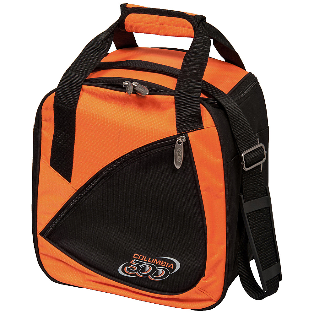 Columbia 300 Bags Team C300 Single Ball Tote Orange Black Columbia 300 Bags Bowling Bags