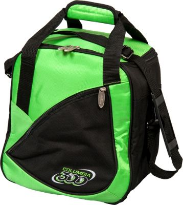 Columbia 300 Bags Team C300 Single Ball Tote Green/Black - Columbia 300 Bags Bowling Bags