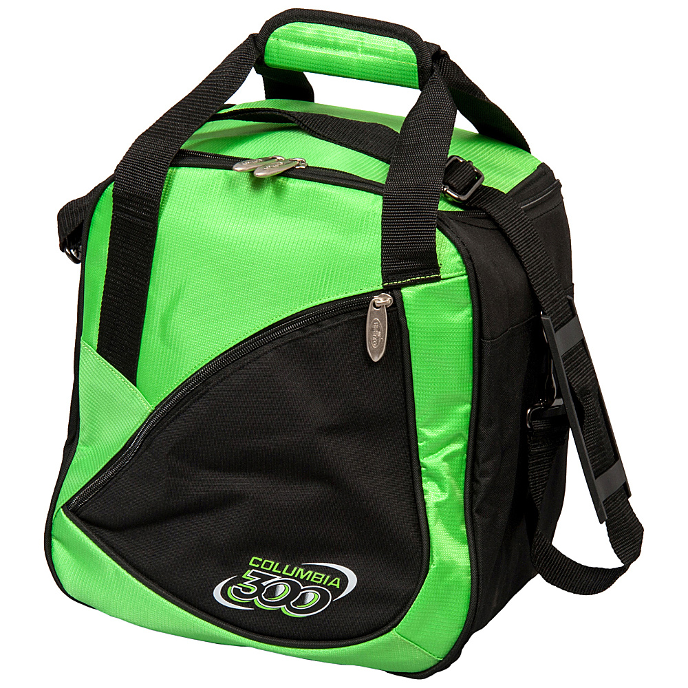 Columbia 300 Bags Team C300 Single Ball Tote Green Black Columbia 300 Bags Bowling Bags
