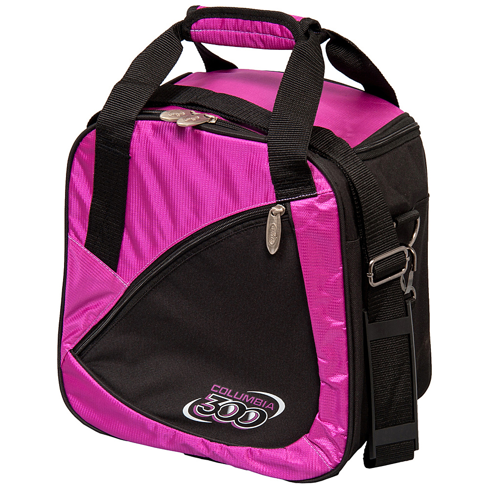 Columbia 300 Bags Team C300 Single Ball Tote Purple Black Columbia 300 Bags Bowling Bags