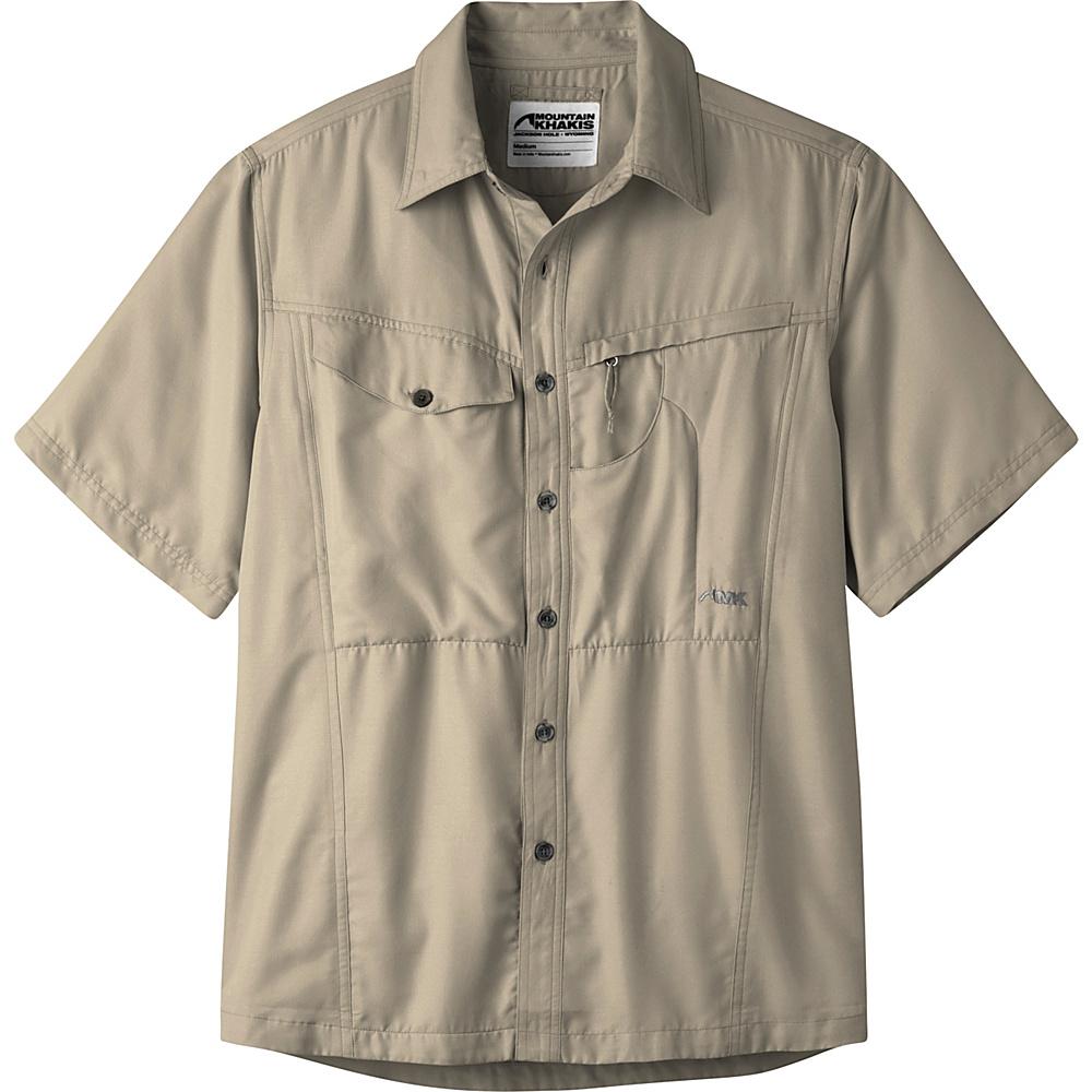 Mountain Khakis Trail Creek Short Sleeve Shirt M - Truffle - Mountain Khakis Mens Apparel - Apparel & Footwear, Men's Apparel