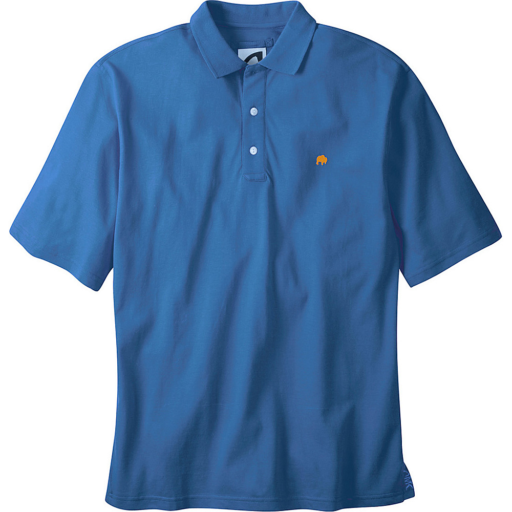 Mountain Khakis Bison Polo Shirt S - Storm Blue - Mountain Khakis Mens Apparel - Apparel & Footwear, Men's Apparel