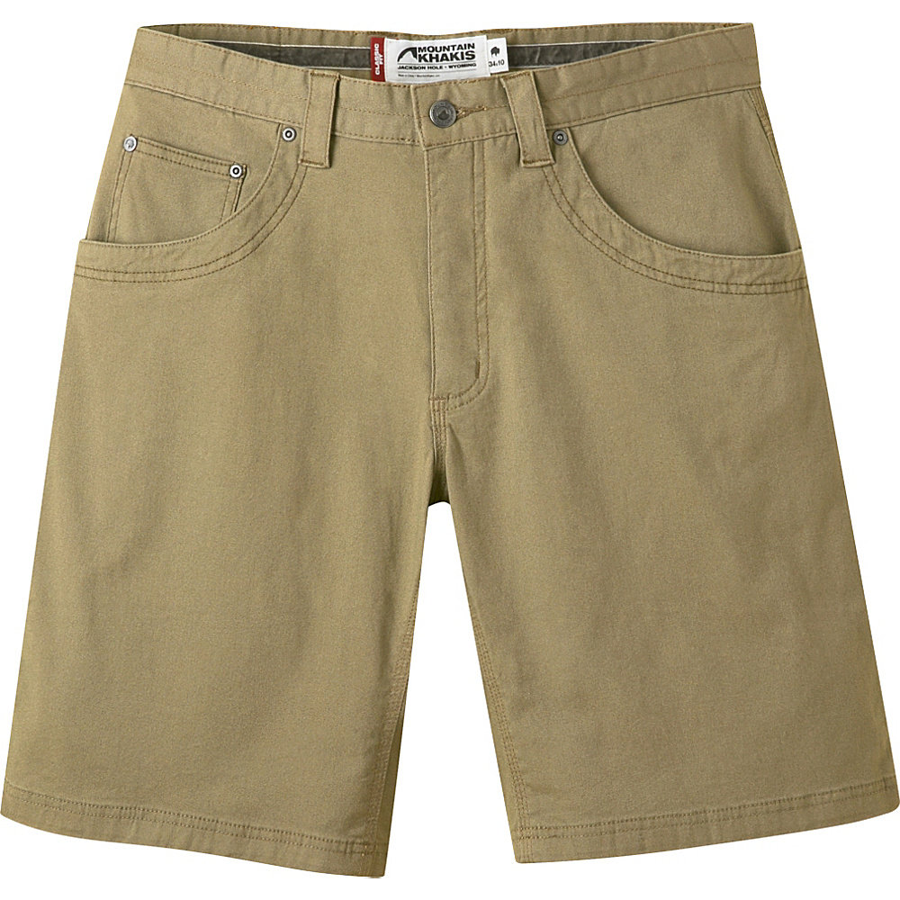 Mountain Khakis Camber 104 Hybrid Short 38 - 10in - Desert Khaki - Mountain Khakis Mens Apparel - Apparel & Footwear, Men's Apparel