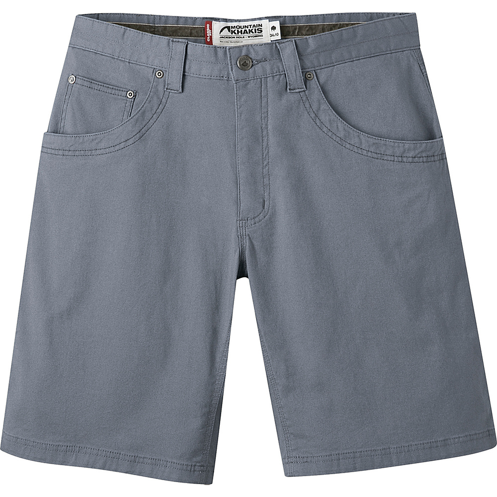 Mountain Khakis Camber 104 Hybrid Short 30 - 10in - Gunmetal - Mountain Khakis Mens Apparel - Apparel & Footwear, Men's Apparel
