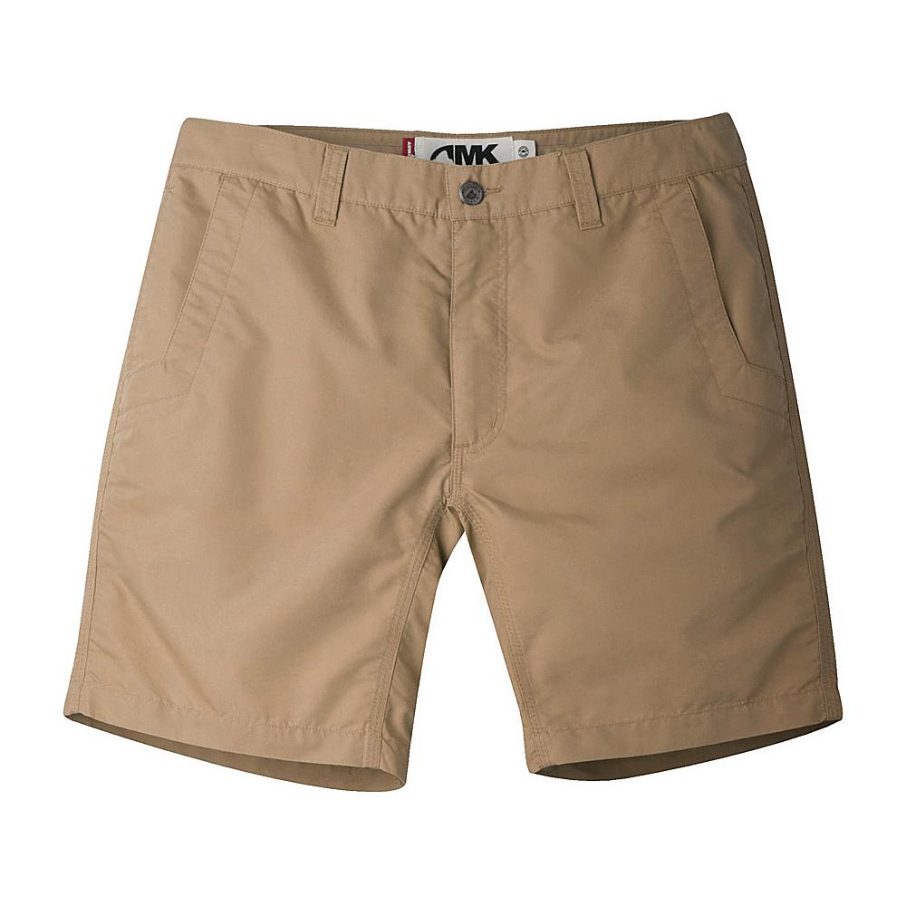 Mountain Khakis Slim Fit Poplin Shorts 34 - 8in - Khaki - 10W 18.5in - Mountain Khakis Mens Apparel - Apparel & Footwear, Men's Apparel