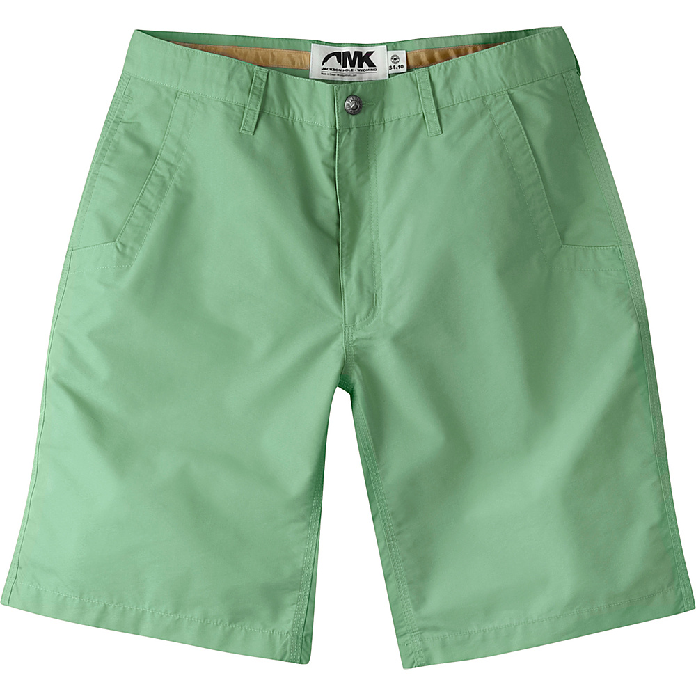 Mountain Khakis Slim Fit Poplin Shorts 32 - 8in - Sage - Mountain Khakis Mens Apparel - Apparel & Footwear, Men's Apparel