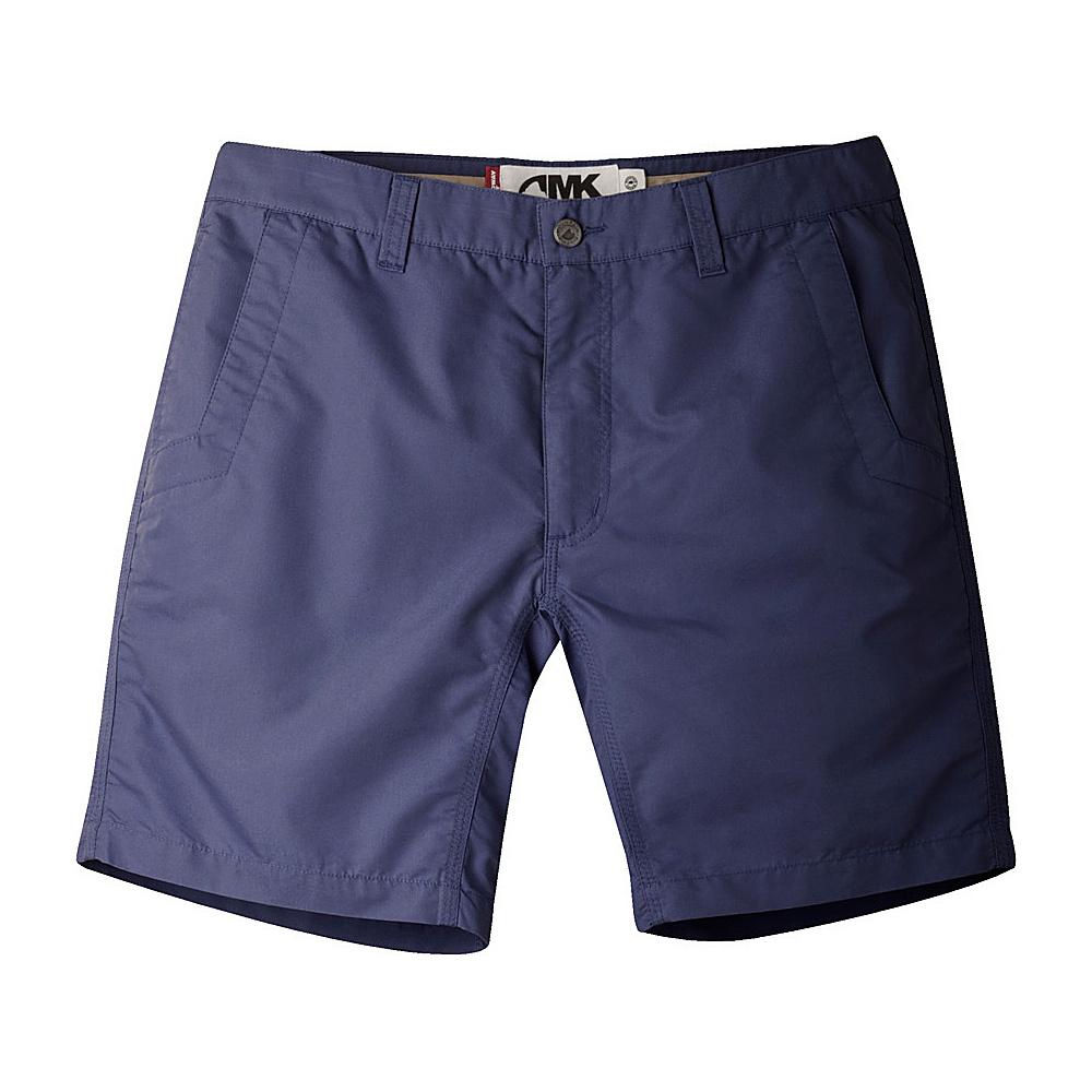 Mountain Khakis Slim Fit Poplin Shorts 33 - 8in - Navy - Mountain Khakis Mens Apparel - Apparel & Footwear, Men's Apparel