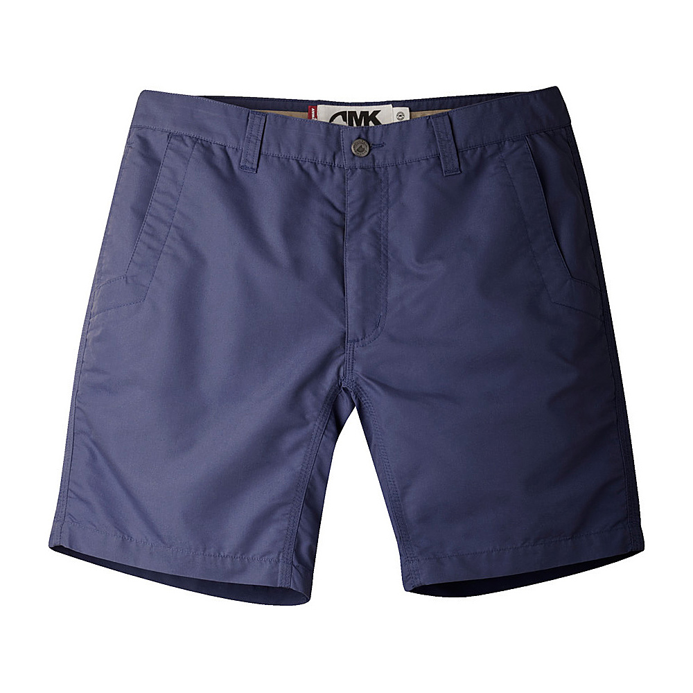 Mountain Khakis Slim Fit Poplin Shorts 36 - 10in - Navy - Mountain Khakis Mens Apparel - Apparel & Footwear, Men's Apparel