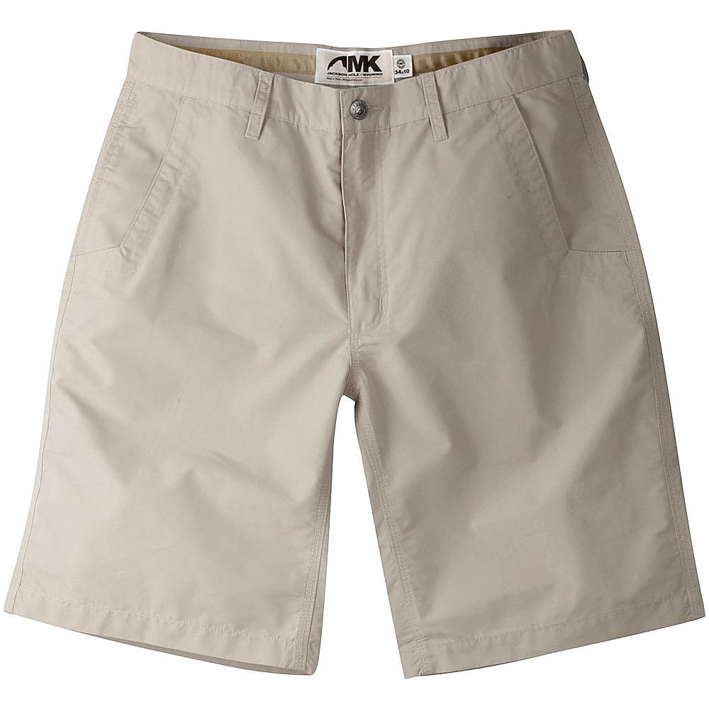 Mountain Khakis Slim Fit Poplin Shorts 36 - 10in - Oatmeal - 36W 10in - Mountain Khakis Mens Apparel - Apparel & Footwear, Men's Apparel