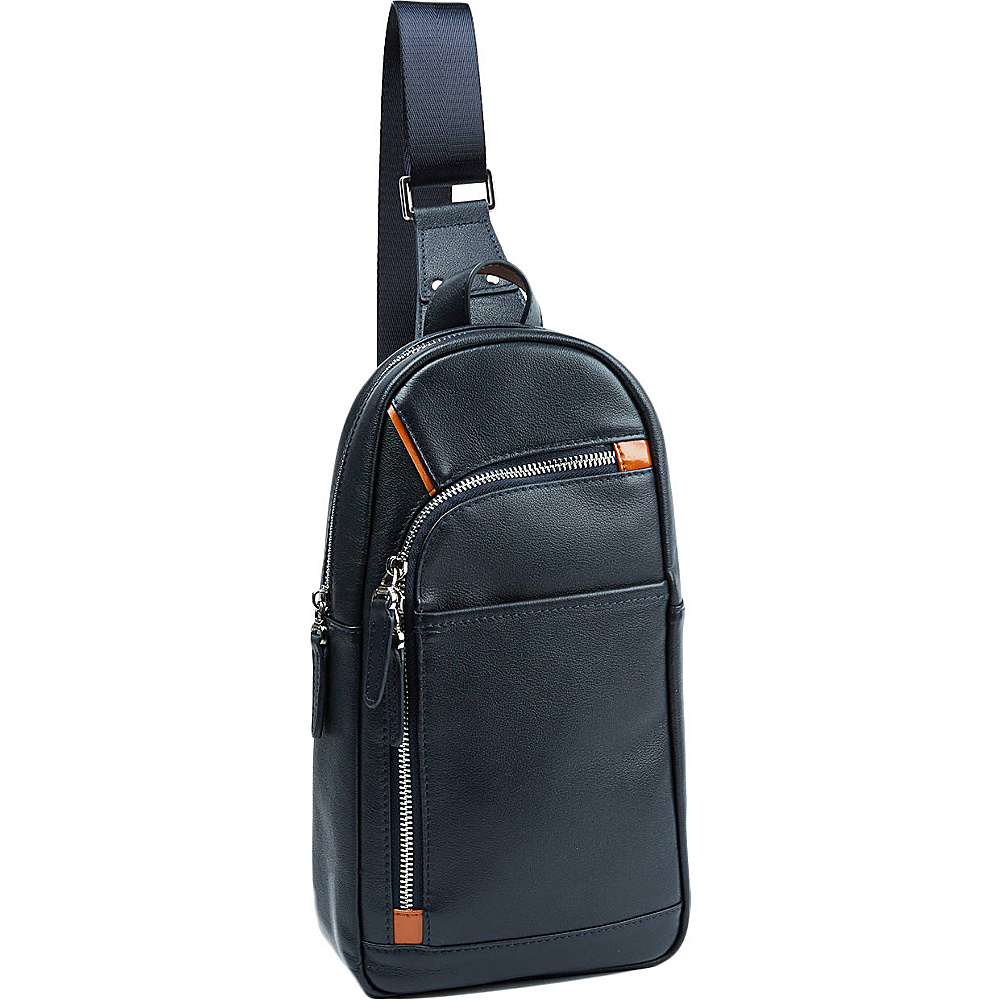 Tanners Avenue Leather Campus Pack Navy Tanners Avenue Everyday Backpacks