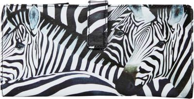 Icon Shoes Continental Wallet with ID Flip Zebra Stripes - Icon Shoes Women's Wallets