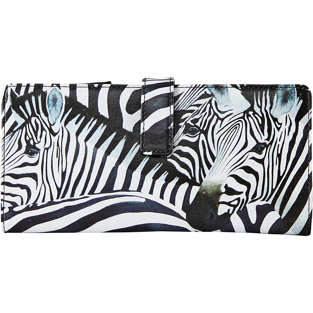 Icon Shoes Continental Wallet with ID Flip Zebra Stripes Icon Shoes Women s Wallets
