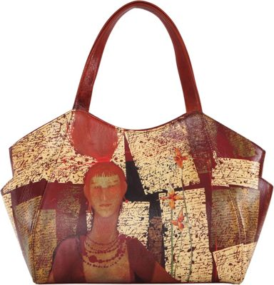 Icon Shoes Large Shoulder Tote with Side Pockets Russian Red - Icon Shoes Leather Handbags