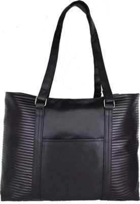 Goodhope Bags Ribbed Tote Black - Goodhope Bags Manmade Handbags