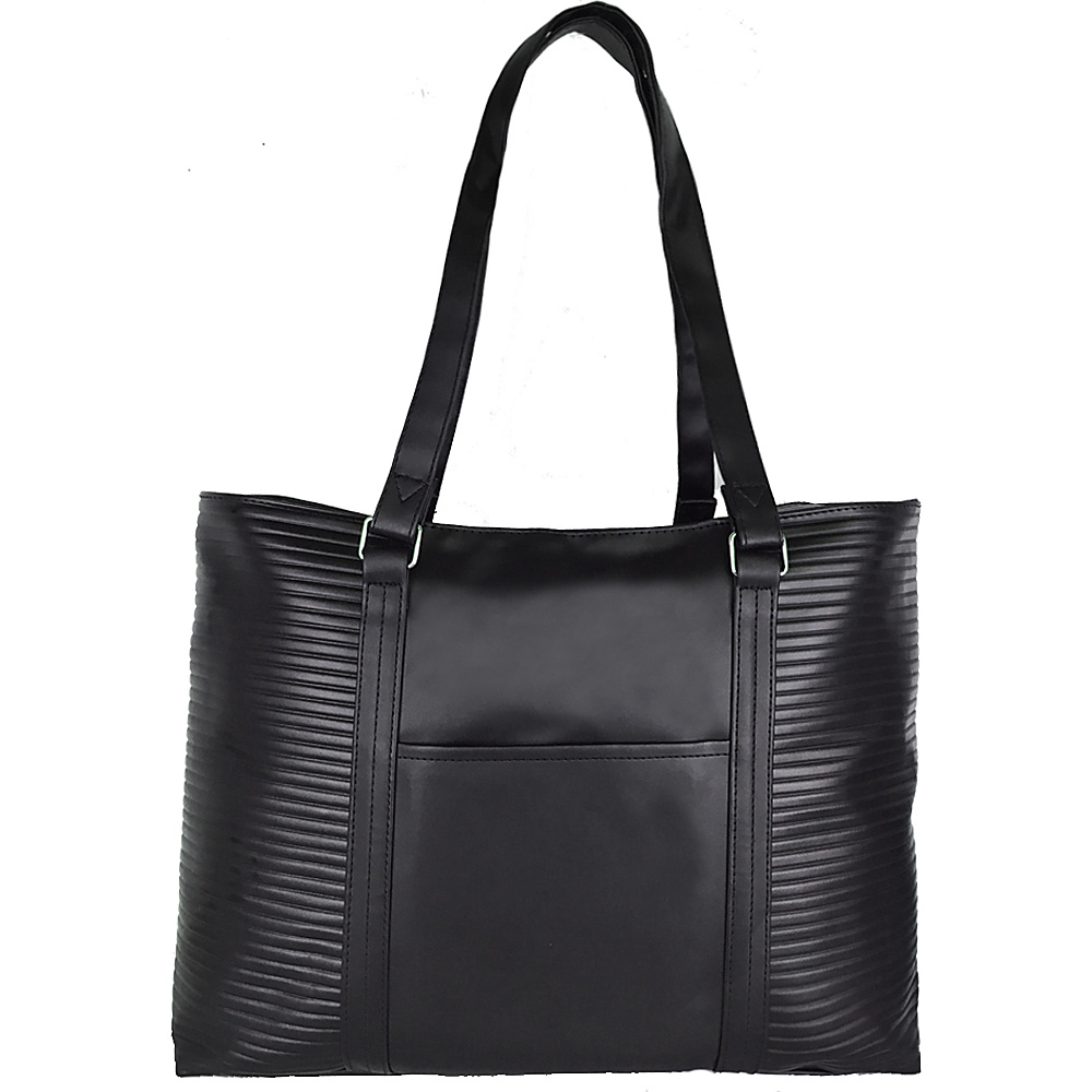 Goodhope Bags Ribbed Tote Black Goodhope Bags Manmade Handbags