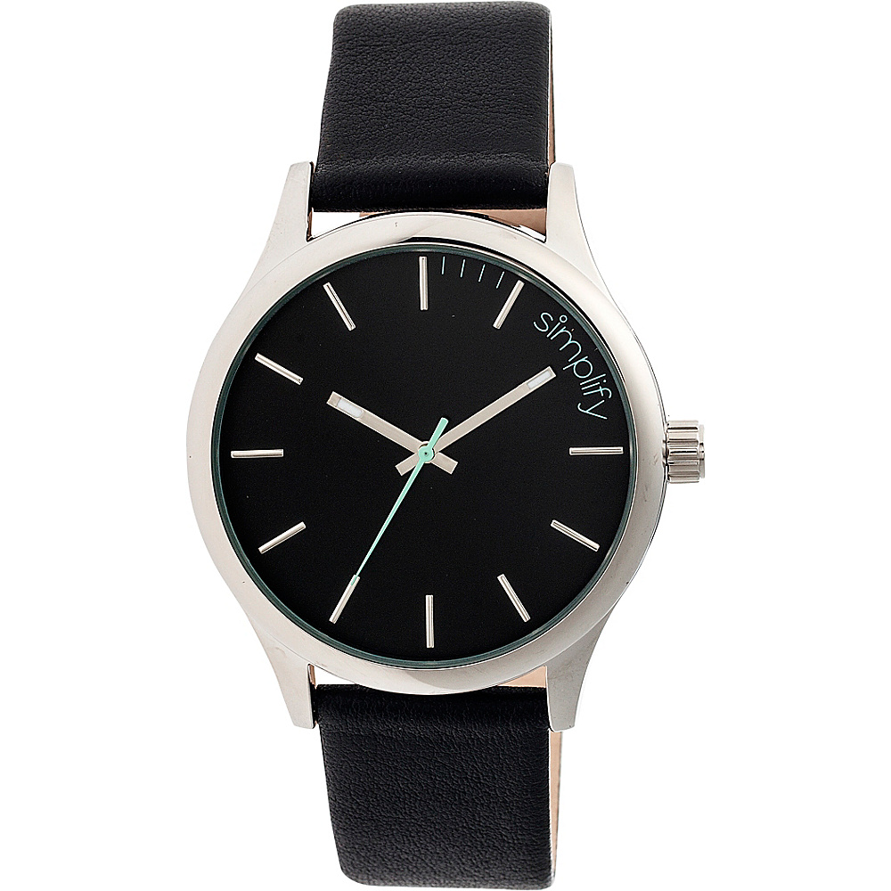 Simplify 2400 Unisex Watch Silver Black Simplify Watches