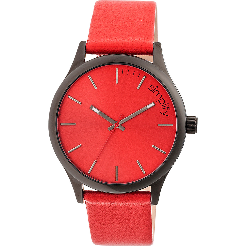 Simplify 2400 Unisex Watch Black Red Simplify Watches