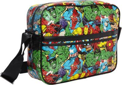 Marvel Marvel Comic Multi-Character Messenger Bag Black - Marvel Messenger Bags