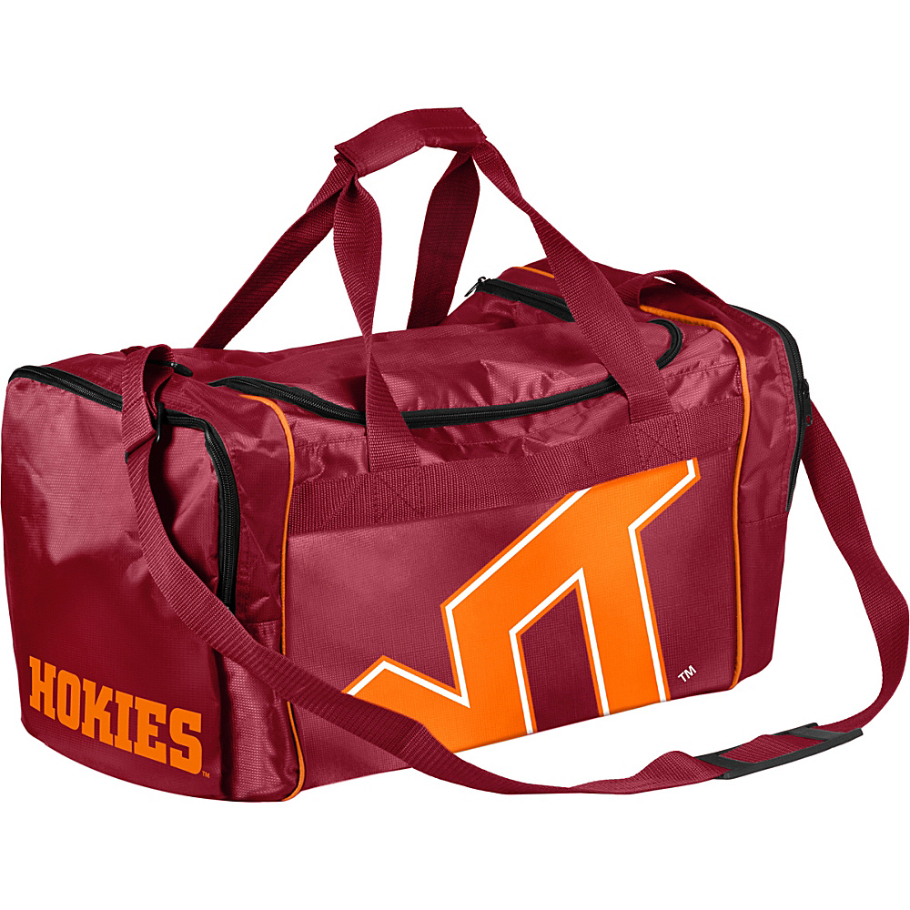 Forever Collectibles NCAA Forever Collectibles Core Duffle Bag Virginia Tech University Hokies Red Forever Collectibles Gym Duffels
