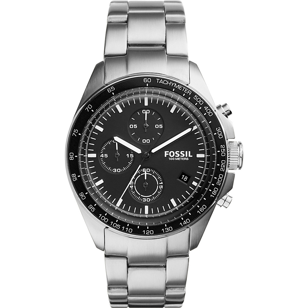 Fossil Sport 54 Chronograph Stainless Steel Watch Silver - Fossil Watches - Fashion Accessories, Watches