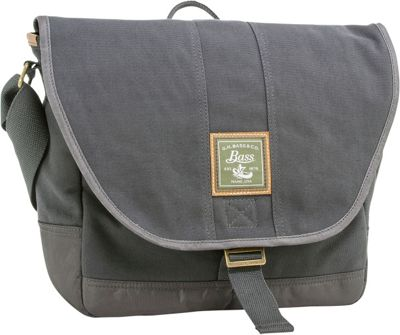 GH Bass & CO Luggage Tamarack Messenger Gray - GH Bass & CO Luggage Messenger Bags