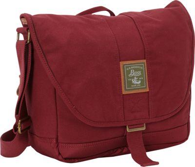 GH Bass & CO Luggage Tamarack Messenger Red - GH Bass & CO Luggage Messenger Bags