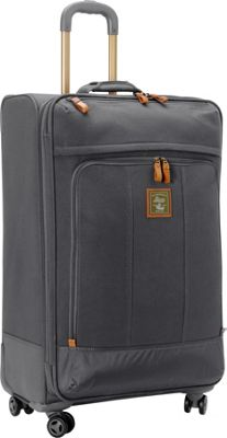GH Bass & CO Luggage Tamarack 29 inch Upright Spinner Gray - GH Bass & CO Luggage Softside Checked