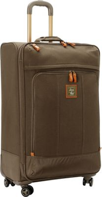 GH Bass & CO Luggage Tamarack 29 inch Upright Spinner Khaki - GH Bass & CO Luggage Softside Checked