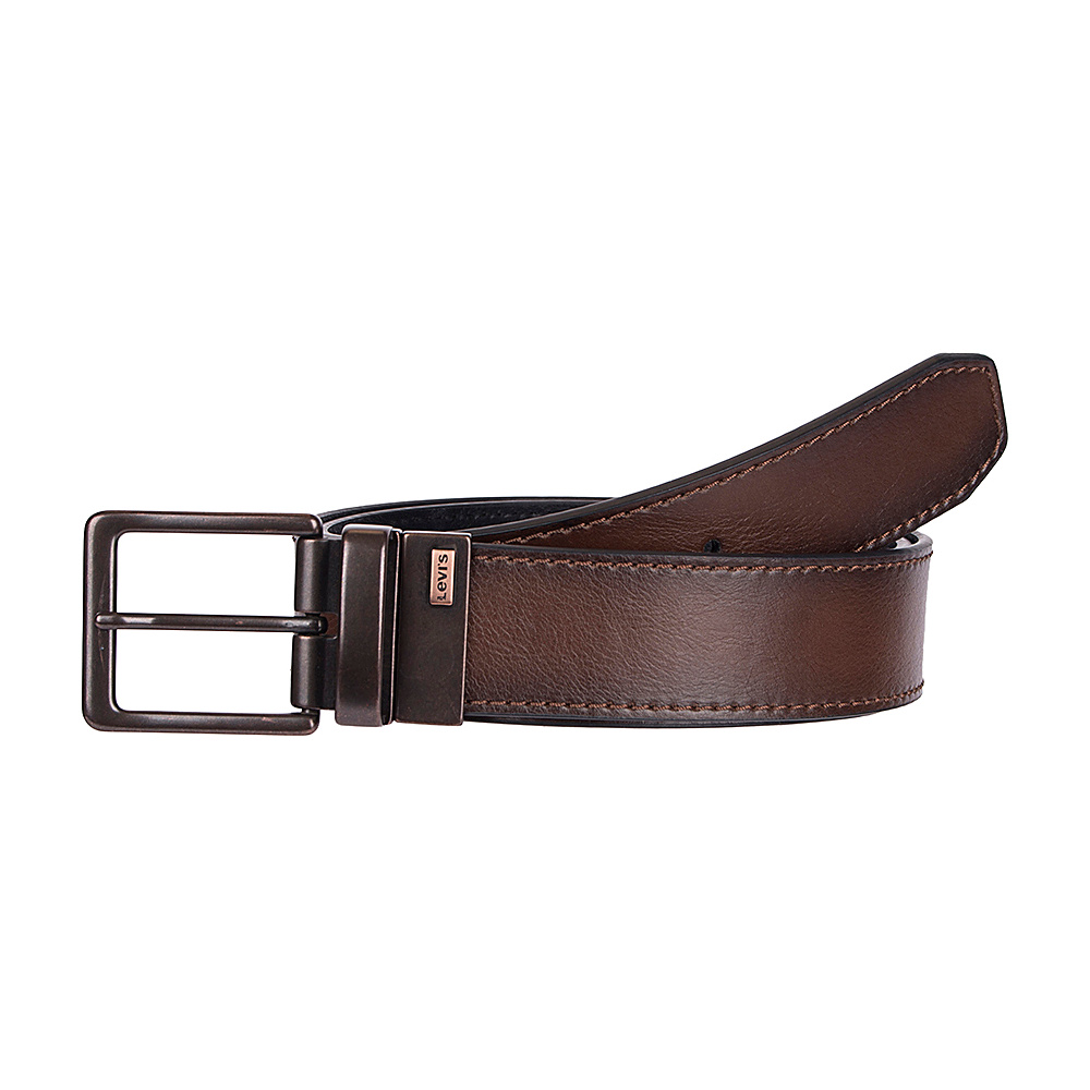 Levi s 38MM Reversible w Two Tone Logo Detail Brown Black 40 Levi s Other Fashion Accessories