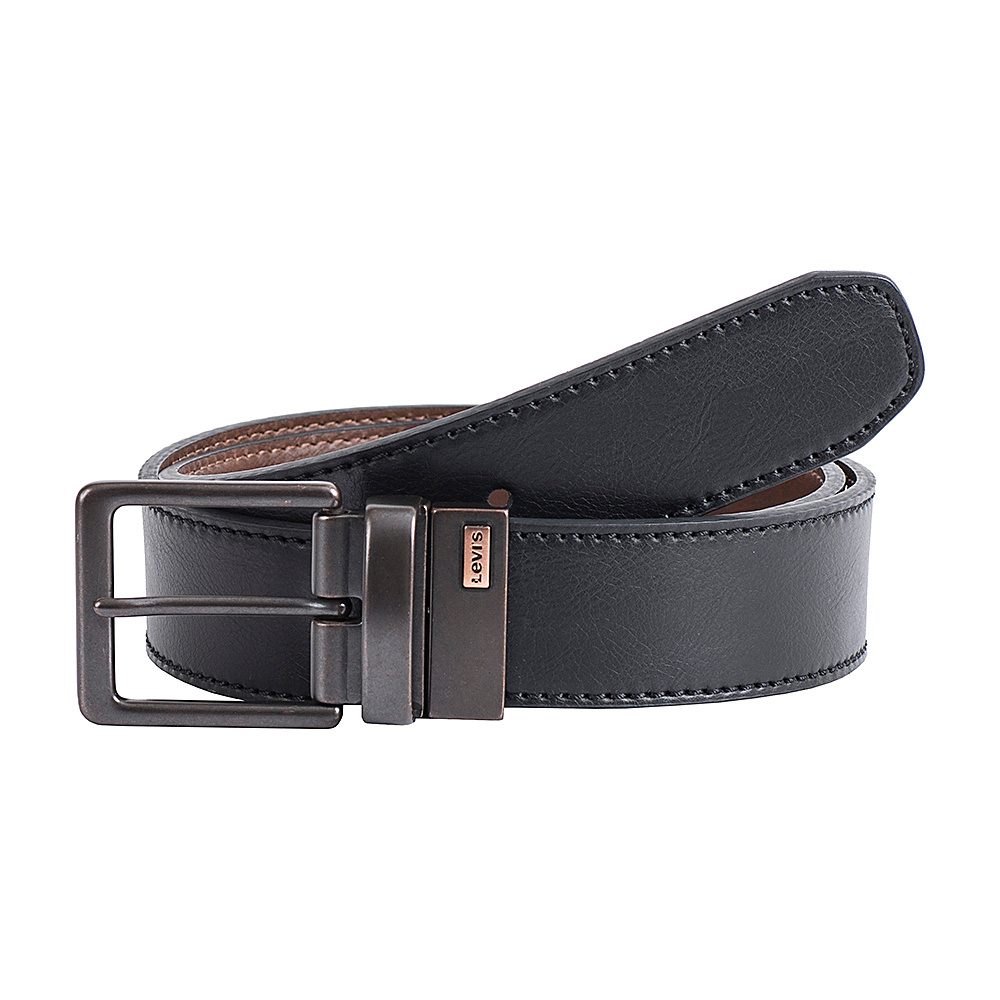 Levi s 38MM Reversible w Two Tone Logo Detail Black Brown 34 Levi s Other Fashion Accessories