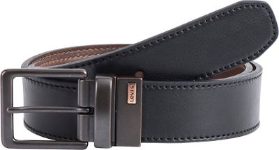 Levi's 38MM Reversible w/ Two-Tone Logo Detail 38 - Black / Brown - 32 - Levi's Other Fashion Accessories