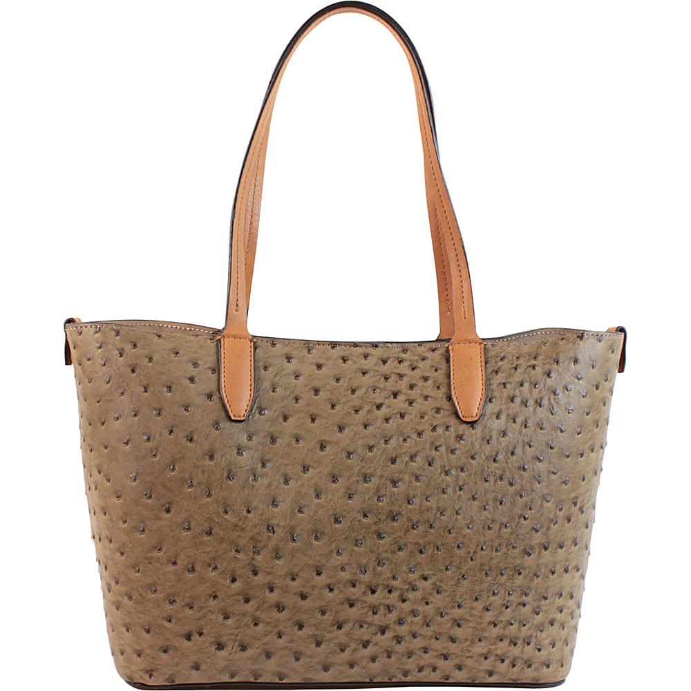 Emilie M Loren Tote Mink Ostrich Emilie M Manmade Handbags