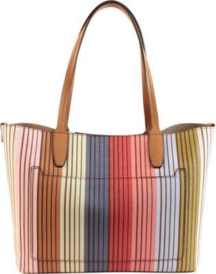 Emilie M Loren Tote Multi Stripe - Emilie M Gym Bags