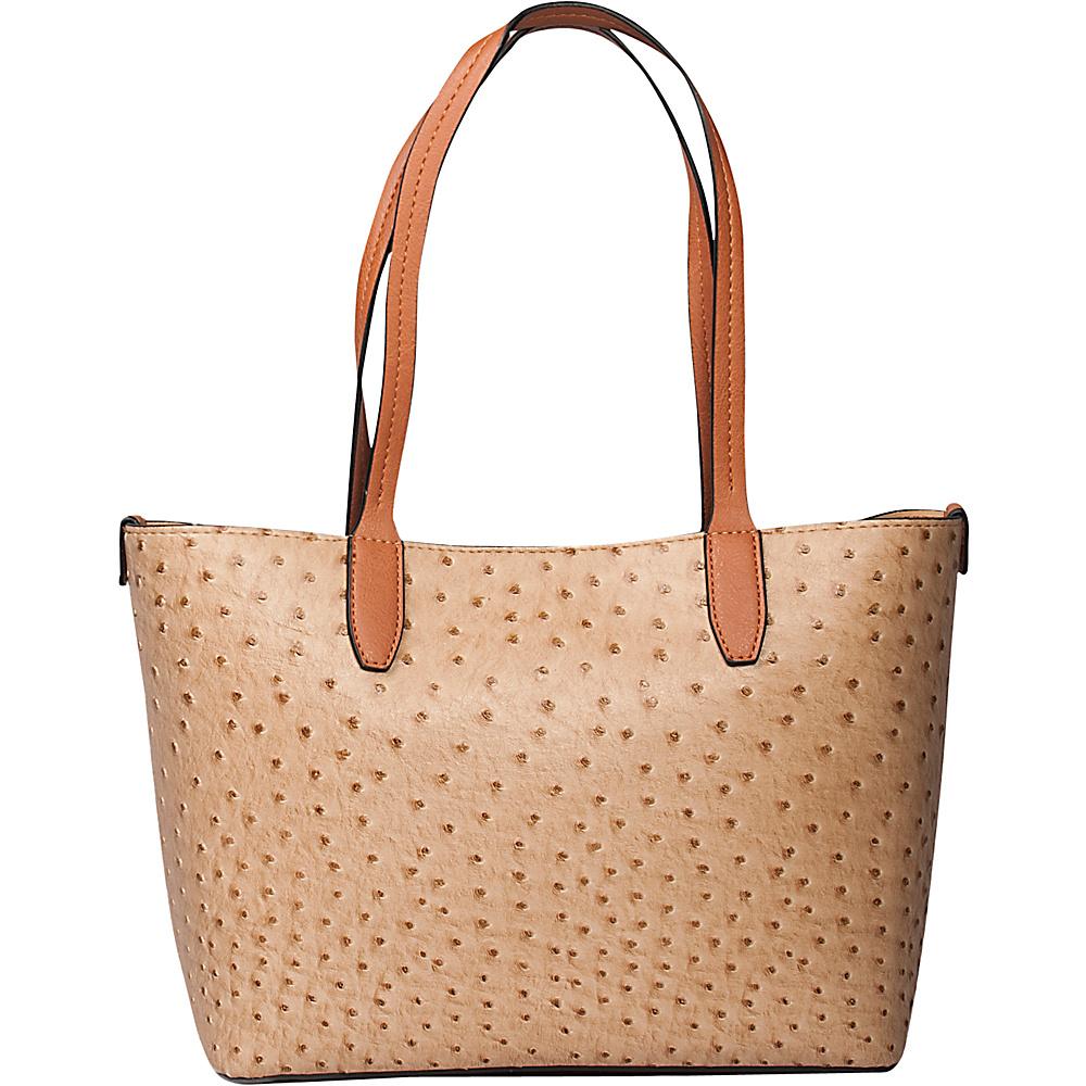 Emilie M Loren Tote Sand Ostrich Emilie M Manmade Handbags