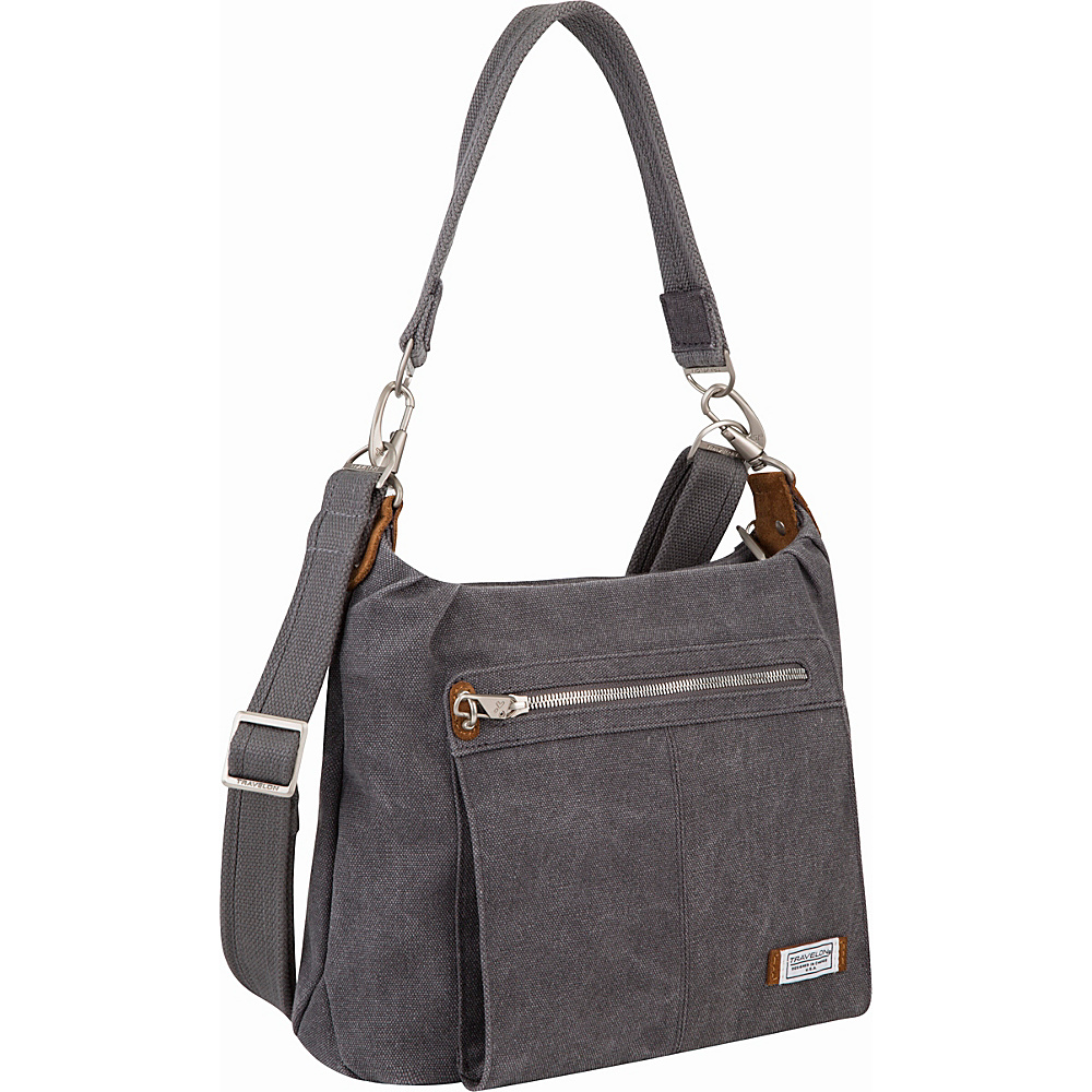 Travelon Anti-Theft Heritage Hobo Bag Pewter - Travelon Fabric Handbags - Handbags, Fabric Handbags