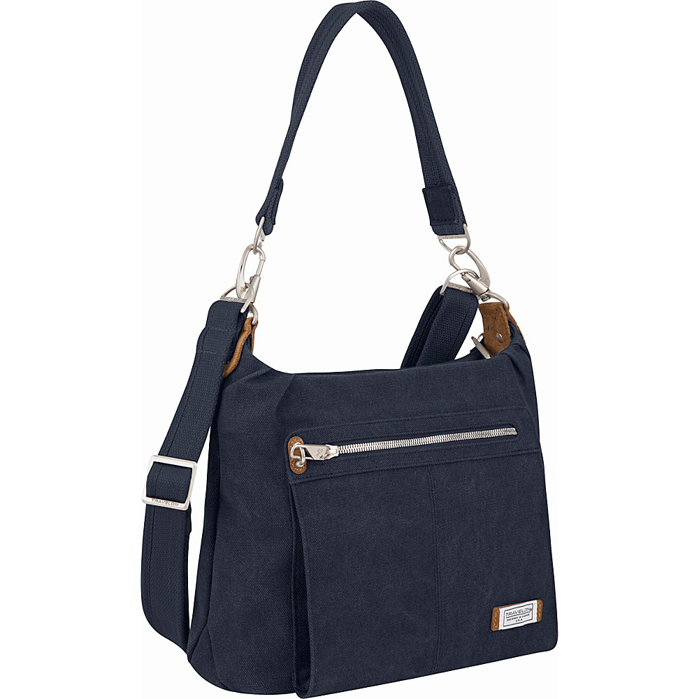 Travelon Anti-Theft Heritage Hobo Bag Indigo - Travelon Fabric Handbags - Handbags, Fabric Handbags