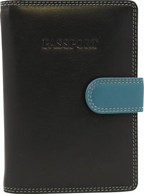 Visconti RB 75 Multi Colored Passport Holder Cover Blue - Visconti Travel Wallets