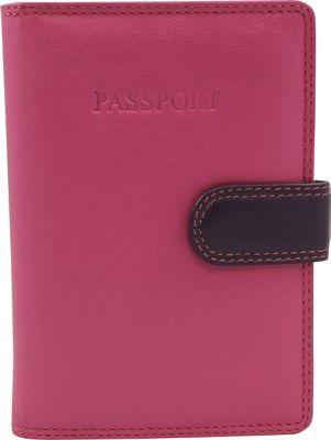 Visconti RB 75 Multi Colored Passport Holder Cover Pink - Visconti Travel Wallets