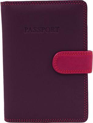 Visconti RB 75 Multi Colored Passport Holder Cover Plum - Visconti Travel Wallets