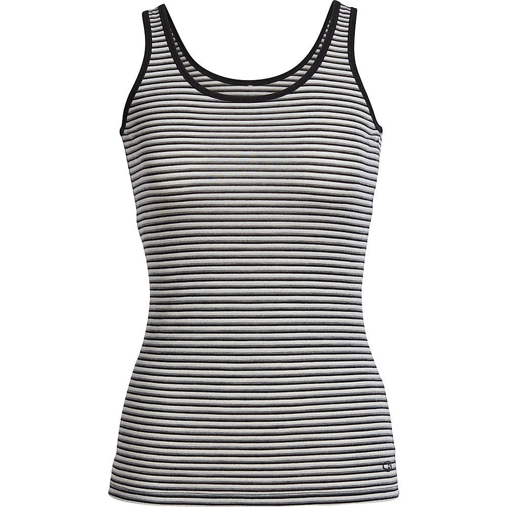 Icebreaker Womens Siren Tank S - Black/Snow/Stripe - Icebreaker Womens Apparel - Apparel & Footwear, Women's Apparel