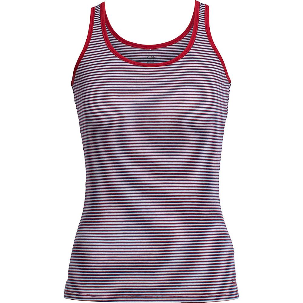 Icebreaker Womens Siren Tank M - Ice Blue/Largo/Stripe - Icebreaker Womens Apparel - Apparel & Footwear, Women's Apparel