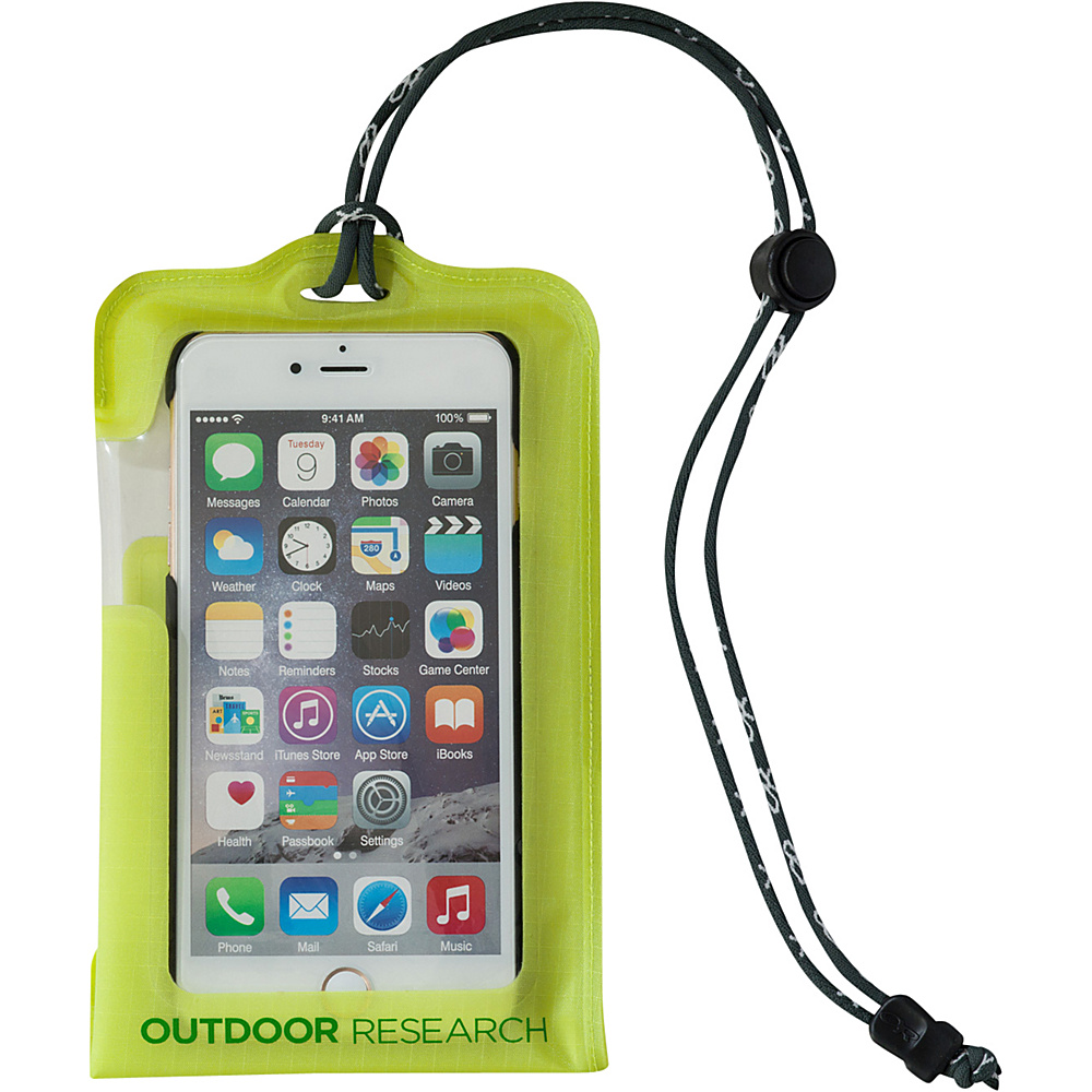 Outdoor Research Sensor Dry Pocket  Smartphone Large Lemongrass – One Size - Outdoor Research Electronic Cases - Technology, Electronic Cases