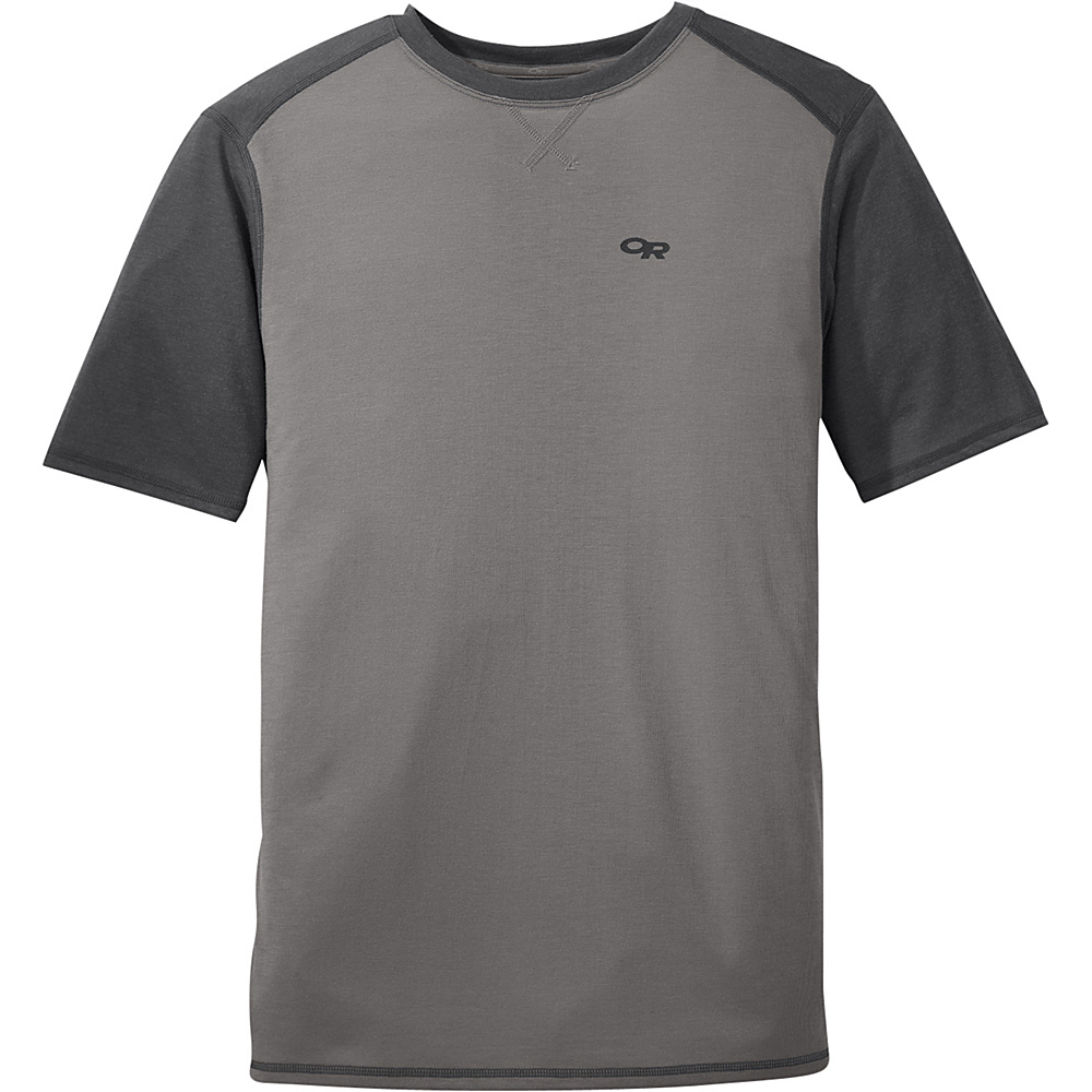 Outdoor Research Mens Sequence Duo Tee L - Pewter/Charcoal - Outdoor Research Mens Apparel - Apparel & Footwear, Men's Apparel