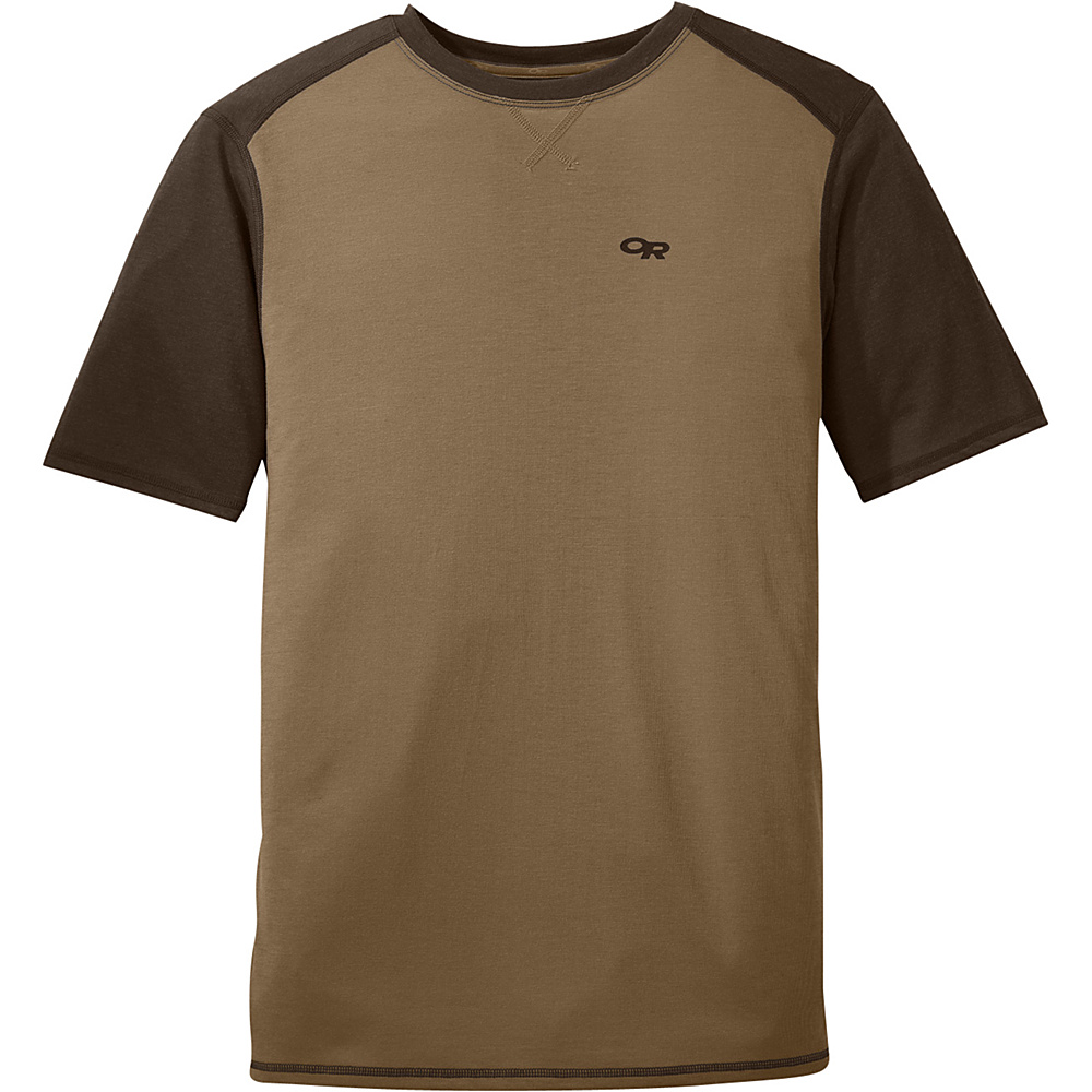 Outdoor Research Mens Sequence Duo Tee S - Coyote/Earth - Outdoor Research Mens Apparel - Apparel & Footwear, Men's Apparel