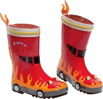 Kidorable Fireman Rain Boots 8