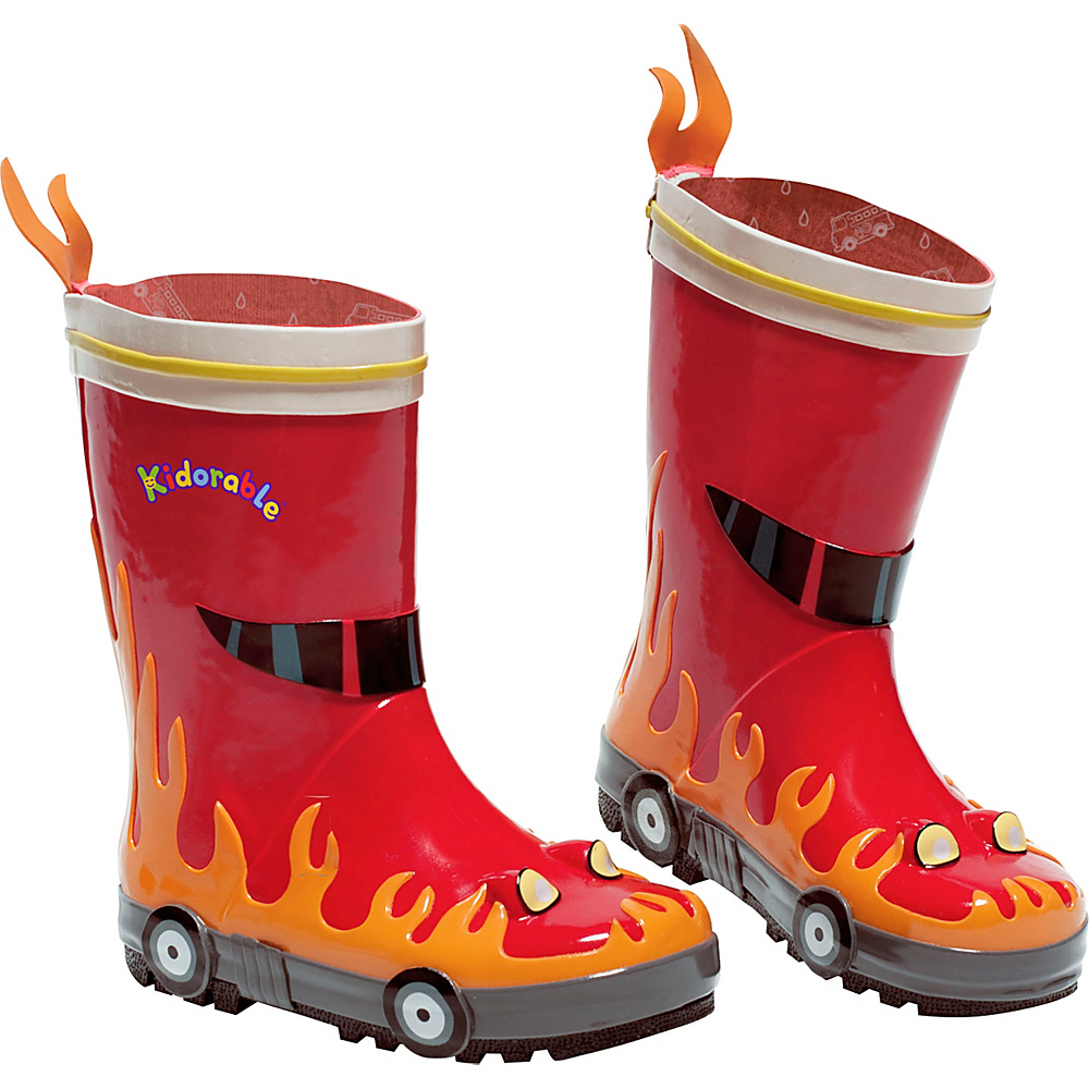 Kidorable Fireman Rain Boots 9 (US Toddlers) - M (Regular/Medium) - Red - Kidorable Mens Footwear - Apparel & Footwear, Men's Footwear