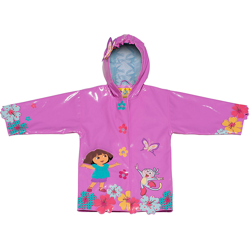 Kidorable Dora All-Weather Raincoat 6/6X - Pink - Kidorable Mens Apparel - Apparel & Footwear, Men's Apparel