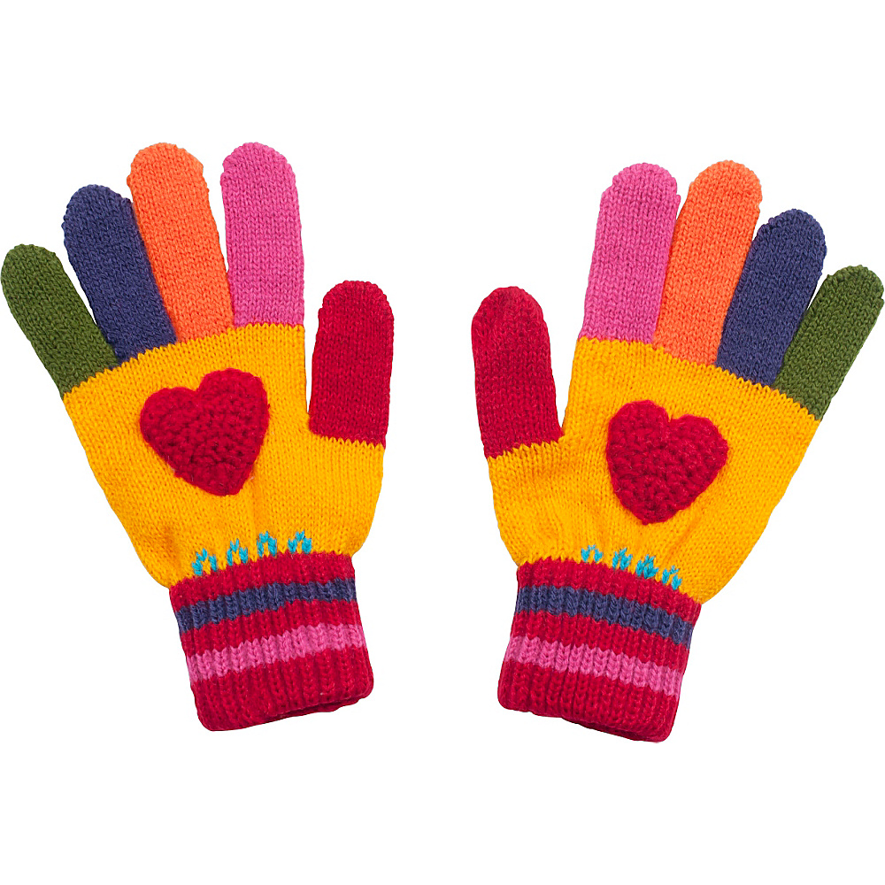 Kidorable Heart Knit Gloves Yellow Large Kidorable Hats Gloves Scarves